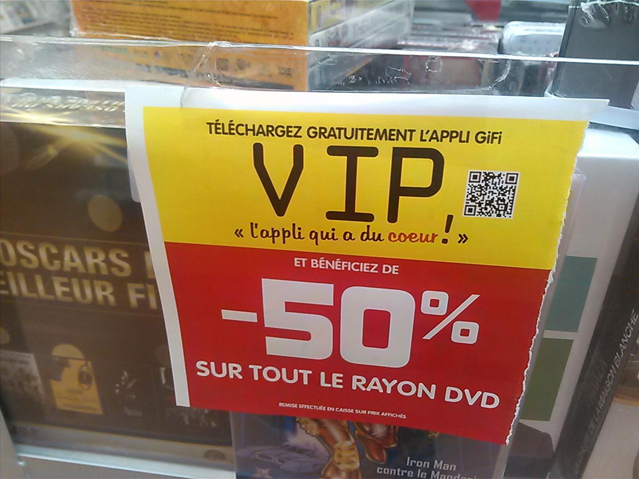 -50% sur l'ensemble du rayon DVD et Blu-ray