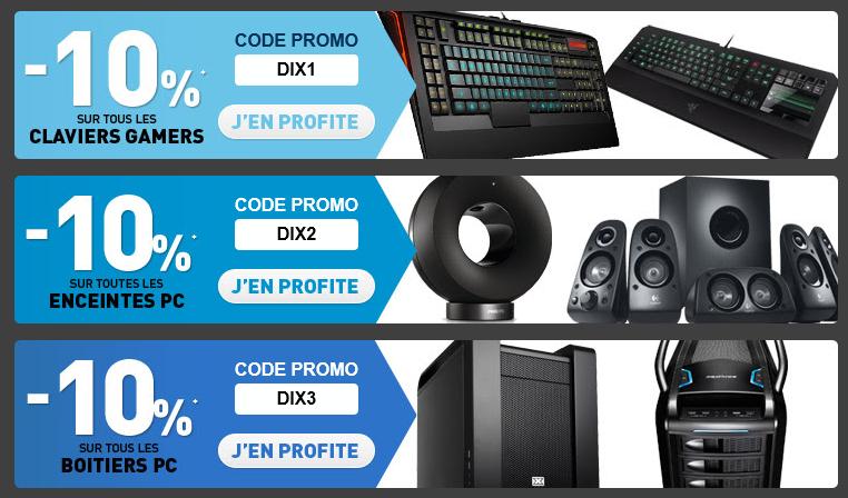 -10% sur les claviers gamers / enceintes PC / Boitiers PC
