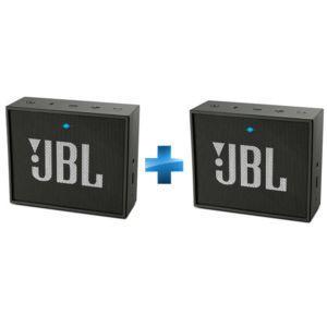 Deux enceintes Bluetooth JBL GO - Noir
