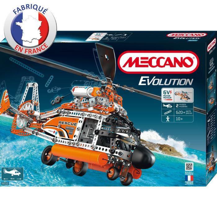 Jeu de Construction Meccano Hélicoptère Evolution (640 pièces)