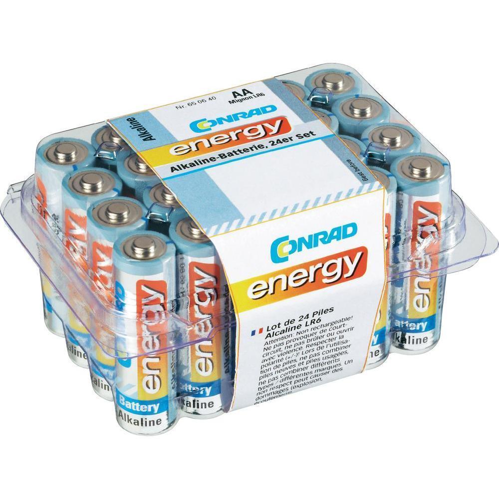 Lot de 24 piles Conrad Energy - LR06 (AA), 1.5V