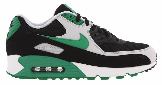 Chaussures Nike Air Max 90 Essential - Noir/Vert/Blanc (Tailles 40/