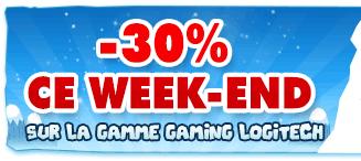 -30% sur la gamme Logitech Gaming + ODR -50% sur 2ème article