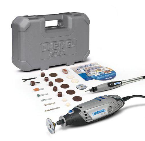 Outil rotatif multifonctions Dremel 3000 JD avec 25 accessoires + arbre flexible et malette