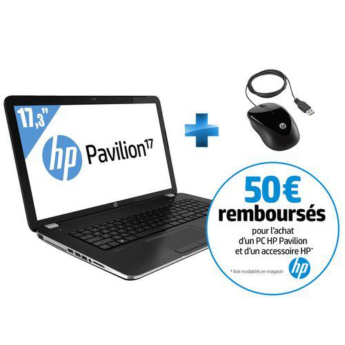 PC Portable HP Pavilion 17-E076SF + Souris filaire (avec ODR 50€)