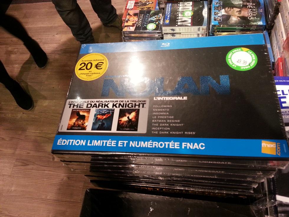 [Offre adhérents] Coffret 8 Blu-Rays Christopher Nolan (+ 20€ en chèques cadeaux)