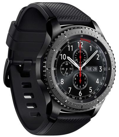 Montre Connectée Samsung Gear S3 SM-R760NDAADBT  (Modèle au choix) - Noir