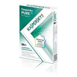 Antivirus Kaspersky Pure V2 2012 Total Security - 3 postes/1an (évolutif V3)