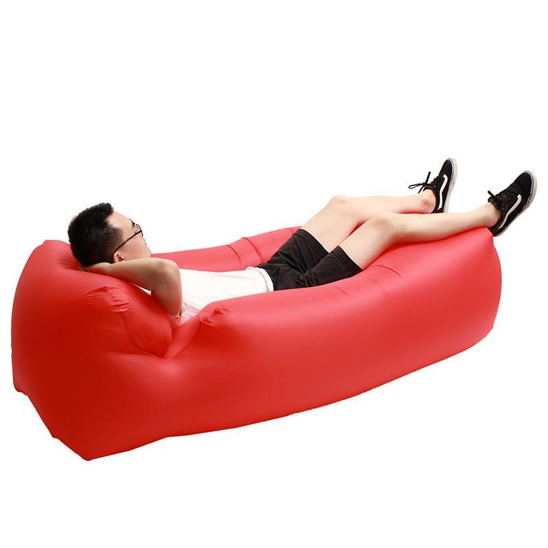 Sofa gonflable IPRee avec coussin - Plusieurs coloris (250 x 75 cm)