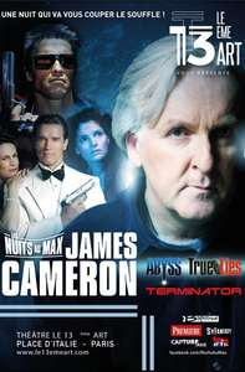 Billet pour la soirée Nuits au Max - James Cameron au théâtre Le 13ème Art à Paris (75)
