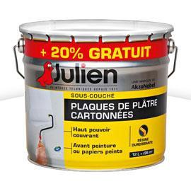 Sous-couche Julien plaques de plâtre cartonnées blanc mat 12L