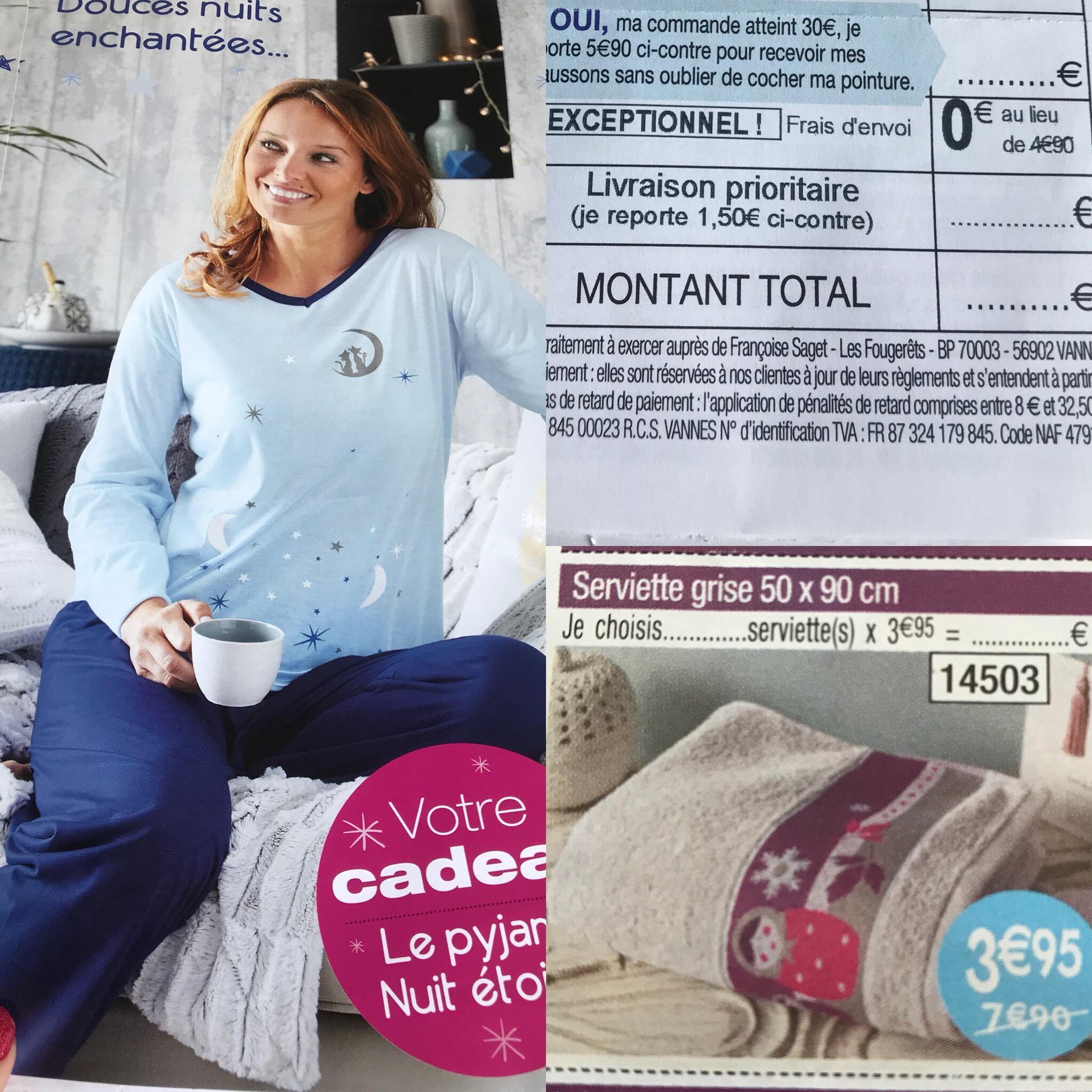 Pyjama offert pour tout achat + frais de port gratuits sans minimum d'achat