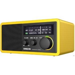 Radio analogique Sangean WR-11 AM / FM jaune