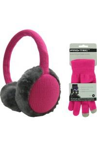 Pack Hiver Kitsound : 1 casque cache-oreilles + 1 paire de gants - Noir ou Rose / Via Buyster