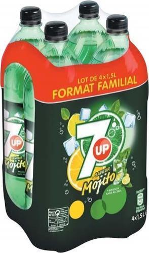 Pack de 4 bouteilles de soda Seven Up Mojito - 4x1.5L (via 3.19€ de fidélité)