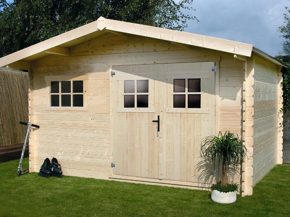 Abri de jardin en bois - 19,72 m² - 4.64 x 4.25 x 2,32 m - 28 mm
