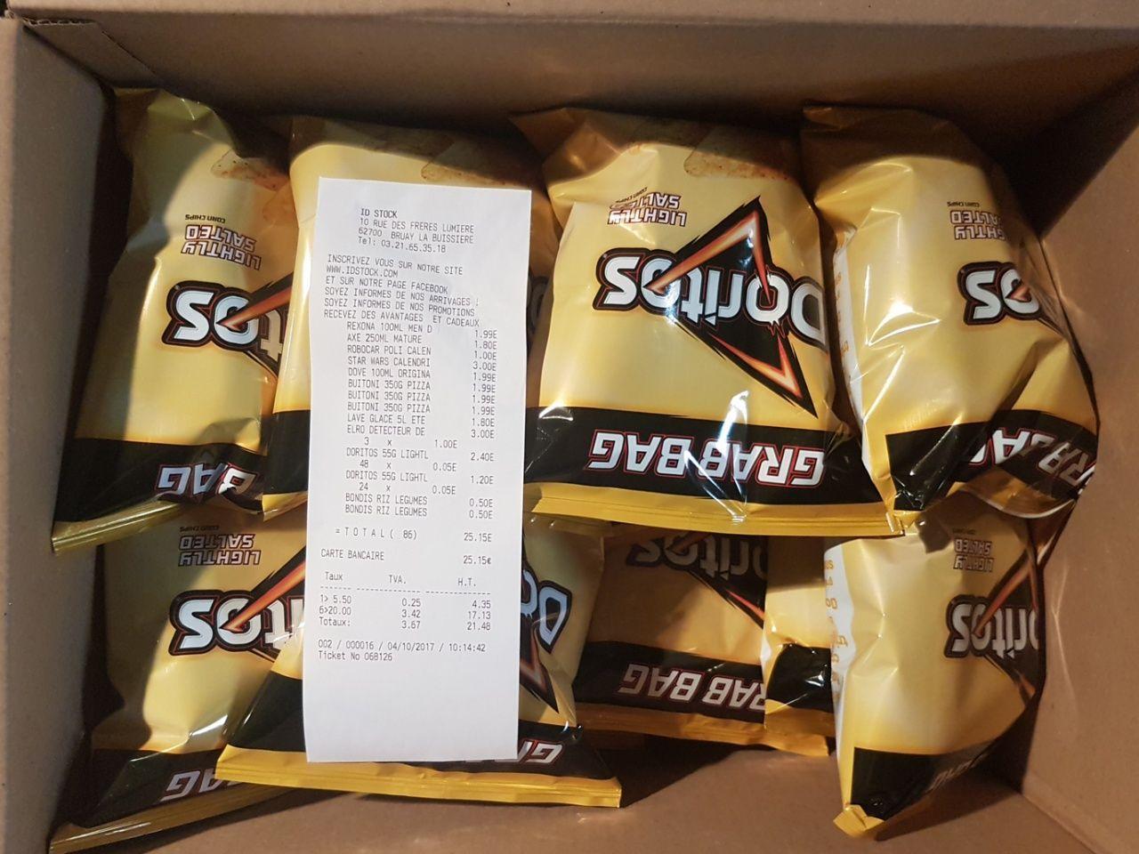 Lot de 24 sachets de Doritos Grab Bag - 55 g (DLUO dépassée)
