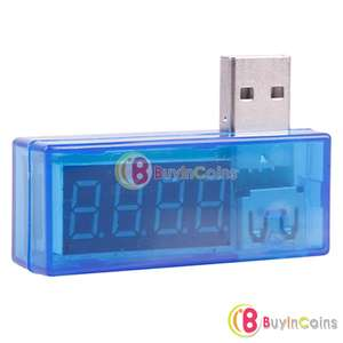 Mini ampèremètre/voltmètre USB