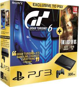 Console PlayStation 3 Ultra Slim 500 Go + Gran Turismo 6 + The Last of Us