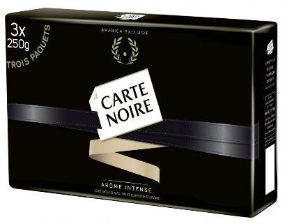 Sélection de produits en promotion : EX : Lot de 3 Paquets de Café Moulu Carte Noir - 3 x 250g (Via Carte de fidélité + BDR)