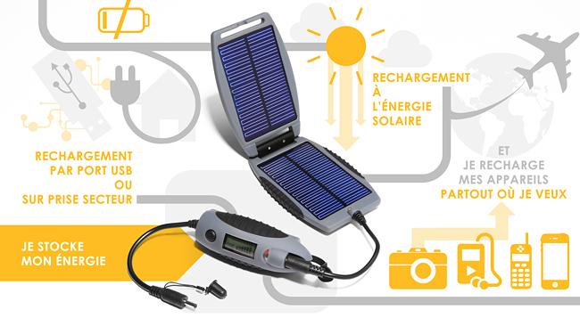 power bank avec chargeur solaire