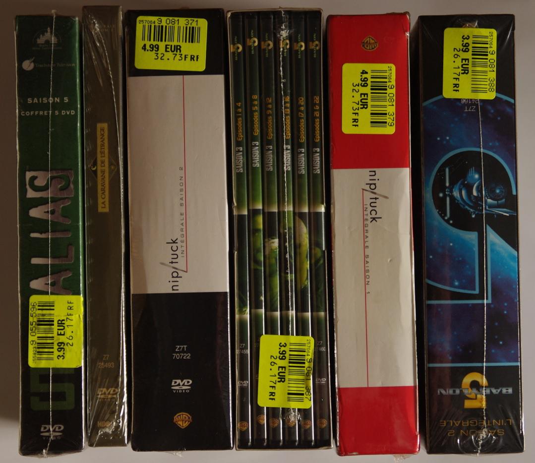 Coffrets DVD/Blueray anciennes séries TV (Nip Tuck, Babylon 5, Alias...)