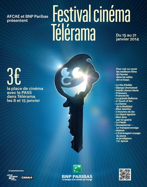 Festival Télérama 2014 : Place de cinéma valable sur une sélection de film