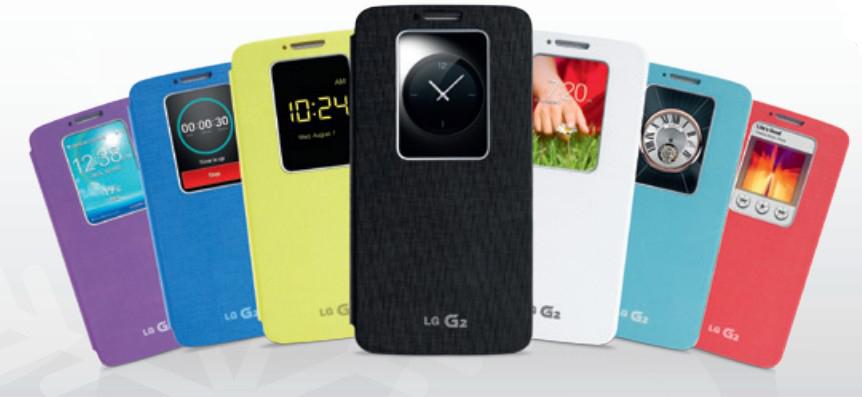 Etui LG Quick Window pour smartphone LG G2 (Après ODR de 20€)