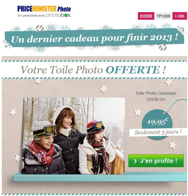 Toile photo 20x30cm offerte (Frais de port : 8.50€)