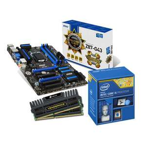 Kit Evo Gamer : Intel Core i5 4670K + Carte mère MSI Z87-G43 + Ram Corsair Vengeance 8Go DDR3