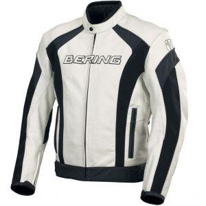 Blouson moto en cuir Bering Trust (Tailles M, L et XL)
