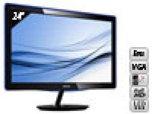 Ecran PC PHILIPS 247E3LSU 24'' LED 5ms Full HD VGA / DVI
