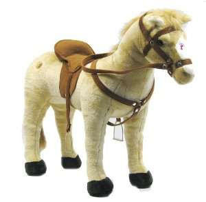 Peluche cheval Happy People 58410 (Capacité de charge d'env. 100 kg)