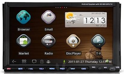 "Autoradio/GPS 7"" Tactile Android 2.3.5, Lecteur DVD (2 Din)"