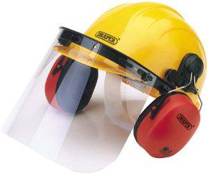 Casque de sécurité avec protège-oreilles et visière - Draper 69933