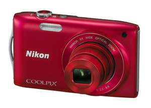 Appareil photo Nikon Coolpix S3200 16Mpx Rouge - Reconditionné