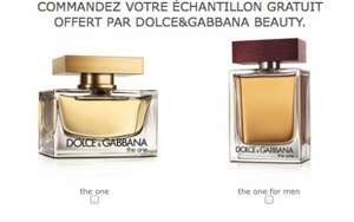 Echantillon parfum Dolce & Gabbana The One
