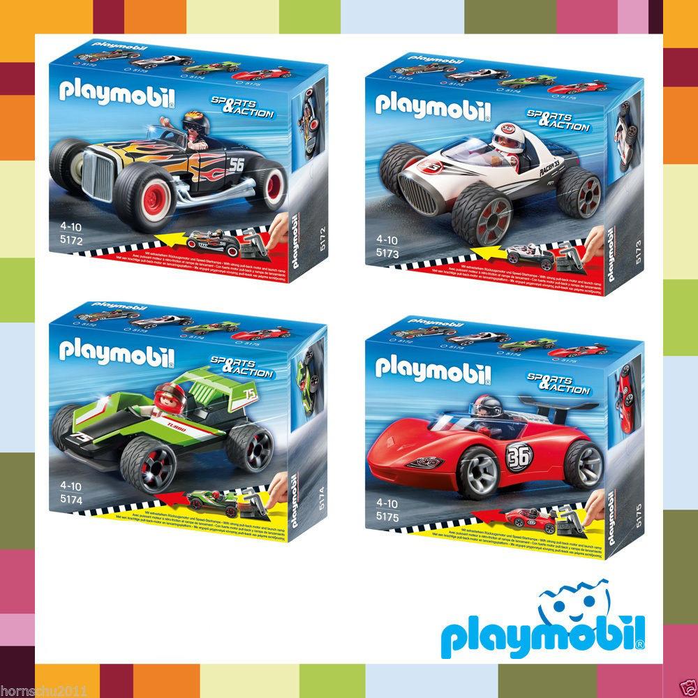 3 Voitures Playmobil à rétro-friction (5175 + 5174 + 7173) / Frais de port inclus