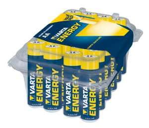 24 piles alcaline Varta Energy AA (LR6) ou AAA (LR3) [Article Panier Plus]