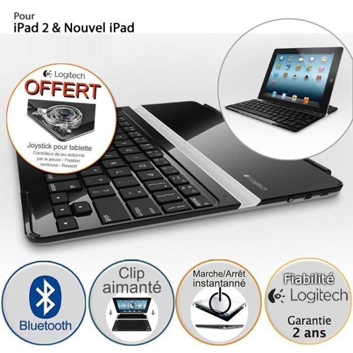 Coque clavier Logitech pour iPad - Ultrathin noir (après ODR de 20€)
