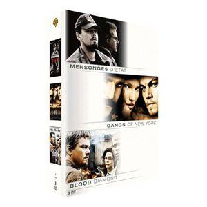 Coffret DVD Leonardo di Caprio : Mensonges d'état, Gangs of New York, Blood diamond