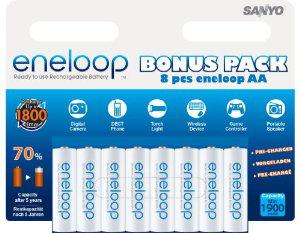 Pack de 8 accus Eneloop E8LR6