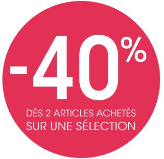 [Possesseur de la carte] 40% de réduction dès 2 articles achetés sur une sélection