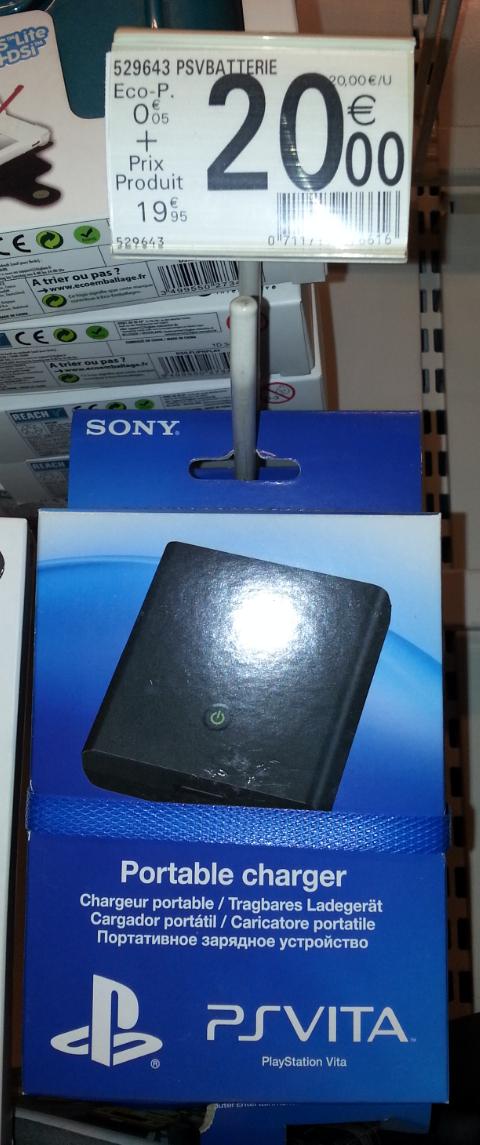 Chargeur portable pour PS Vita