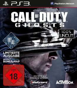 Call of Duty : Ghosts - Free Fall Edition sur PS3 (Import Allemand) ou  Battlefield 4 (import UK)