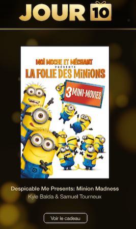 mini-films « La folie des Minions » offerts