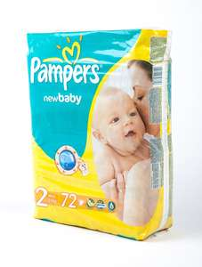 Vente couches et lingettes Pampers - Ex : Pampers New Baby taille 2 - 72 couches
