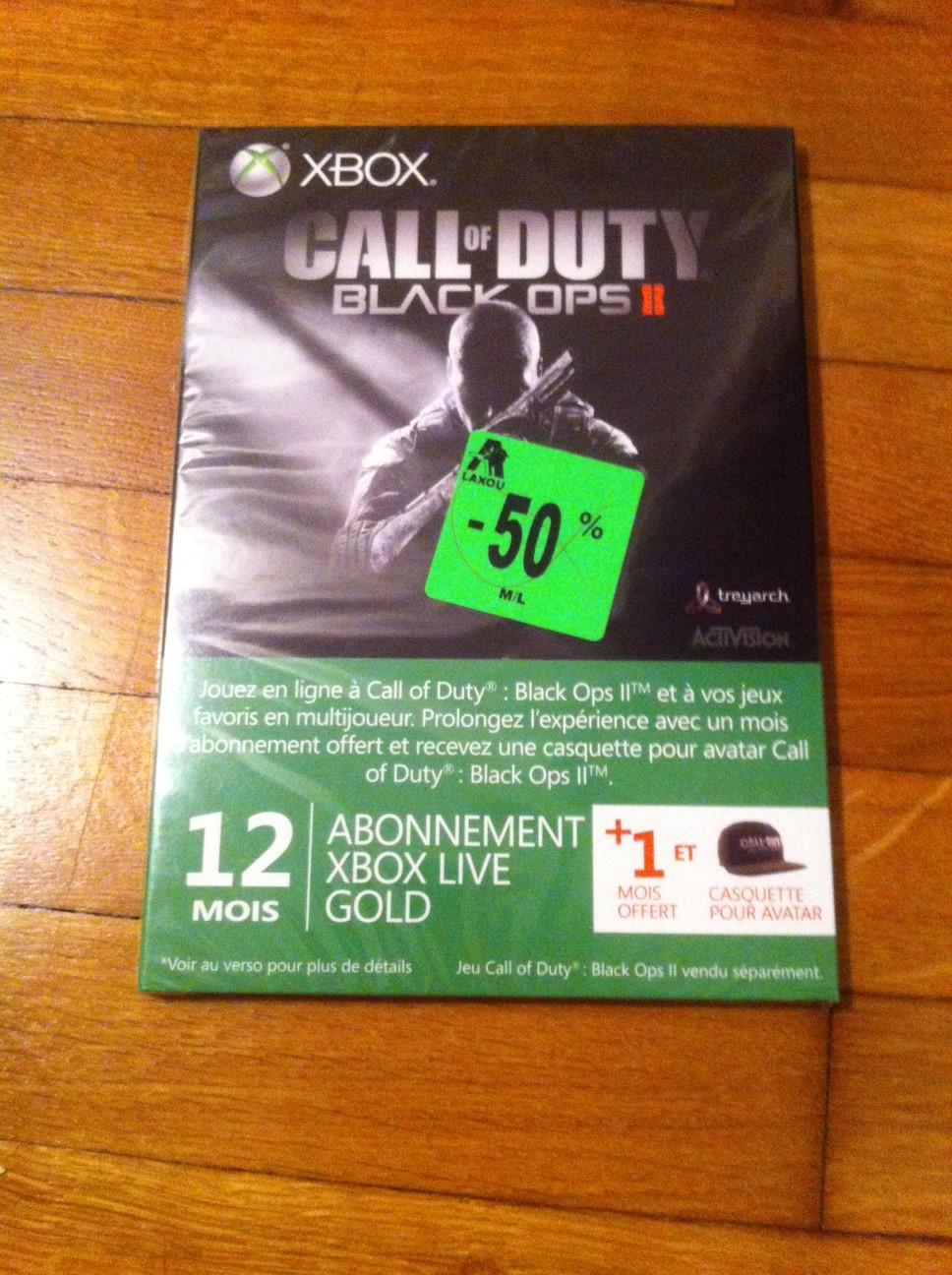 12+1 mois d'abonnement Xbox Live