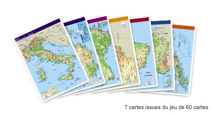 60 cartes du monde 22 x 28,5cm + un planisphère imprimé 40 x 80 cm