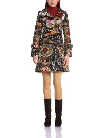 Sélection de vêtements Desigual en promo. Ex : Manteau long Collage Femina